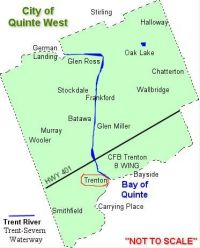 Map of Quinte West.